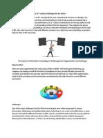 HR Challenges for SelfRidges