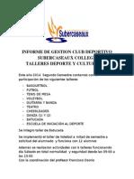 Gestion Deportiva 2014-2 Segundo Semestre