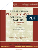 PECES Y AVES DEL PARAGUAY NATURAL - SANCHEZ LABRADOR - 1767 - PORTALGUARANI