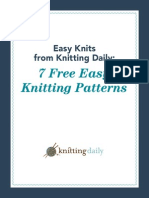 7 Easy Knitting Patterns