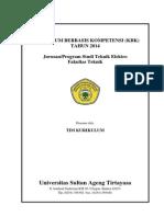 Buku Kurikulum 2014 Teknik Elektro UNTIRTA