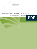 Regulatory Impact Assessment Benchmarking 2012