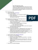 201301 Paper Car Web Quest Worksheet