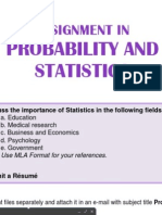 Assignment Prob and Stat