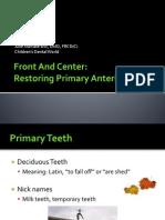 Dr_ Julie Maniate - Primary Anterior Teeth Restoration