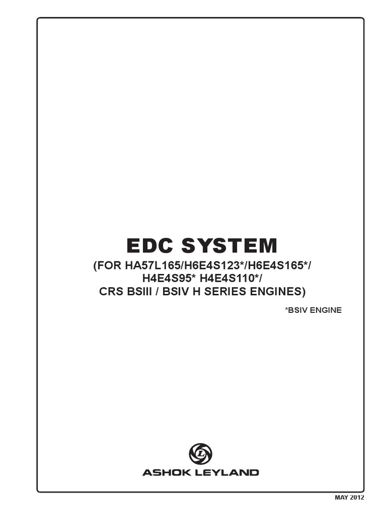 Edc System For Bs Iii Iv Fuel Injection Electrical Connector Car Fuse Box Symbol Meanings