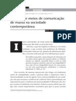 Violência e Meios de Comunicação de Massa Na Sociedade Comtemporânea