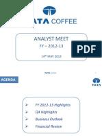 Tata Coffee Analyst Presentation 13may2013