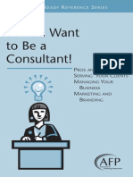 7 So You Want to Be a Consultant