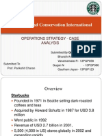 Starbucks and Conservaton International