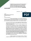 Modelo de nota enviada la Defensoría del Pueblo de la Provincia de Buenos Aires. 2013.