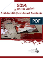 2014 Top Ten List of Worst Anti-Semitic/Anit-Israel Incidents
