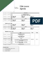 CSM Schedule