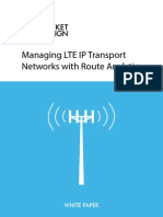Managing LTE IP Transport Networks With Route Analytics