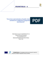 Overview and Selection of Multicriteria Evaluation Methods for Mitigation-Adaptation Policy Instruments