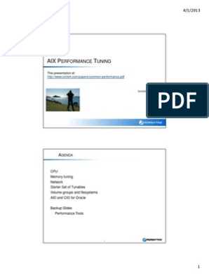 AIX Performance Tuning | File System | Network Packet