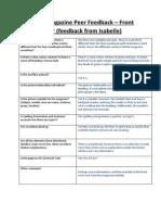 1st draft magazine feedback