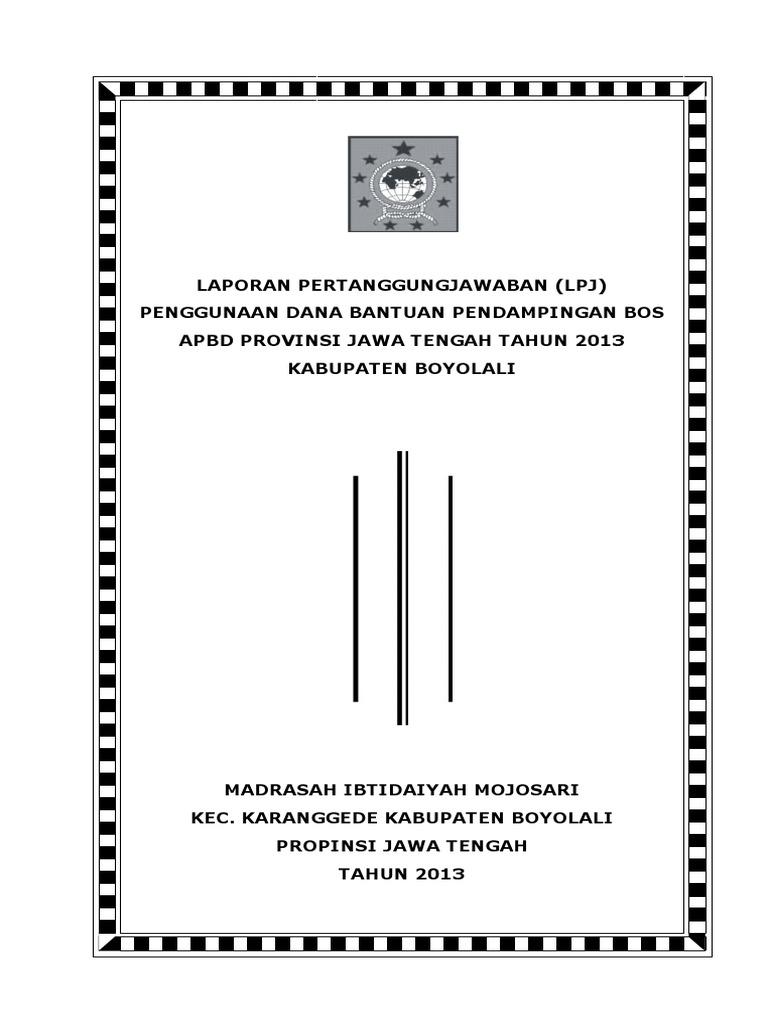 Contoh Laporan Pendamping Bos Mojosari 2011