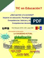 ¿Por Qué TIC en Educación?