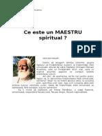 Ce Este Un MAESTRU Spiritual