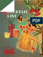 Island Cocktail Menu 14 15