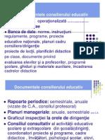 Documentele Consilierului Educativ