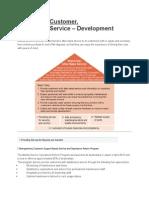 Comitment Customer - After Sales Development