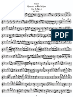 String Quartet in Bb, Hob 16 (Parts)