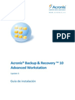 Guia de instalacion de Acronis Backup and Recovery 10 español