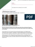 """Hommage Zum Jubiläum - """"Shakespeare Altert Nie_"""" _ Cicero Online"""