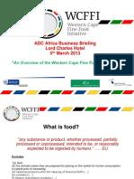 Western Cape Fine Food Initiative Sterras