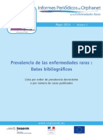 Informe 2014 Orphanet_Prevalencia de Enfermedades Raras