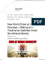 New World Order at India's Doorstep – Making of a Totalitarian Cashless Indian Surveillance Society _ Great Game India
