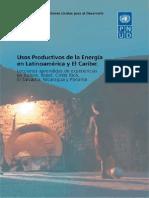 Usos Productivos de La Energía-PNUD