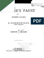 Denton Jacques Snider - Gothe's Faust (Part.1 1886)