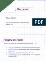 Analyzing Recursion