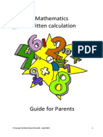 maths booklet for parents - english