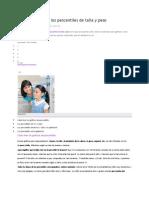 Cómo Interpretar Los Percentiles de Talla y Pes1