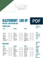 2014 Glastonbury Festival lineup