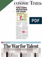 TheEconomicTimes B-SchoolRecruitersRanking July25 2014 (1)