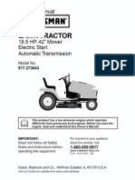 "Craftsman LAWN TRACTOR 18.5 HP, 42"" Mower"