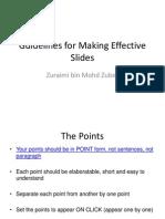 Guidelines for Making Effective Slides