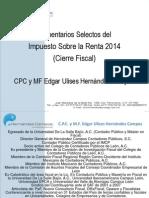 Cierre Fiscal 2014