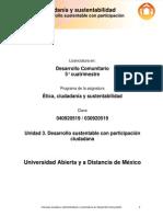 Unidad 3. Desarrollo Sustentable Con Participacion Ciudadana