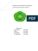 Penetapan Kadar Boraks Dengan Metode Asidimetri