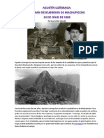 El Gran Descubridor de Machupicchu Agustín Lizárraga