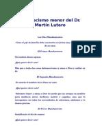 El Catecismo Menor Del Dr.martín Lutero