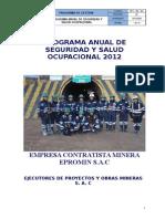 Plan Anual de Seguridad - EPROMIN-2012 Yauliyacu