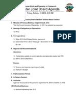 2013 10 11 Agenda Package