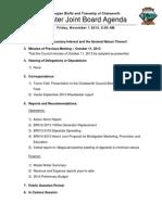 2013 11 01 Agenda Package